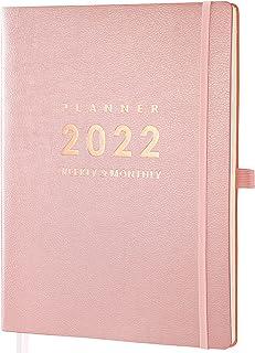 "2022 Planner - Planner 2022 Weekly & Monthly, 8.5"" x 11"", Jan. 2022 - Dec. 2022, Pen Holder, Calendar Stickers, Inner Pock... photo"