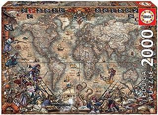 Educa Borras Puzzle Mapa De Piratas 2000 Piezas (18008)