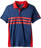 adidas Golf Kids - 3-Stripes Chest Print Polo (Big Kids)