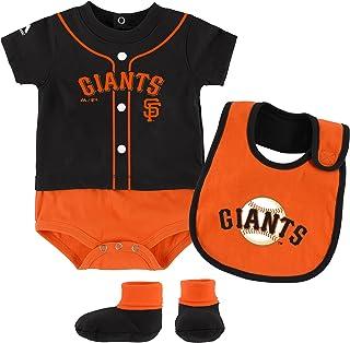 San Francisco Giants Infant Black Orange Little Jersey Creeper Bib Bootie Set