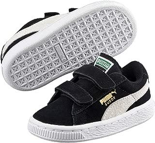 Puma Suede, Unisex Baby Walking Baby Trainers Black (Black/White 01) 8.5 UK