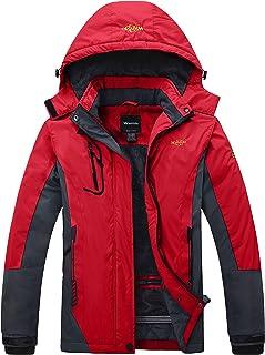Women's Winter Waterproof Ski Jacket Warm Detachable Hood Coat Windproof