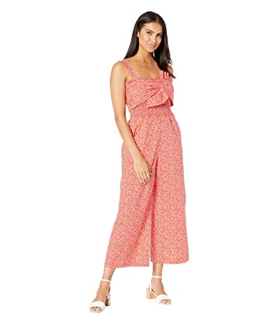 Rebecca Taylor Sleeveless Malia Bow Jumpsuit (Cherry Combo) Women