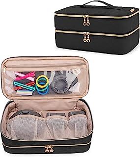 Teamoy Bolsa de Viaje Compatible con Secador de Pelo Dyson Supersónico, Estuche de Viaje Compatible con Dyson Supersónico, Bolsa Portátil para Secador de Pelo y Accesorios, Negro, (Sola Bolsa)