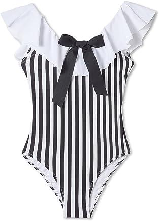 a9ff67d757de7 Stella Cove Black and White Striped Swimsuit
