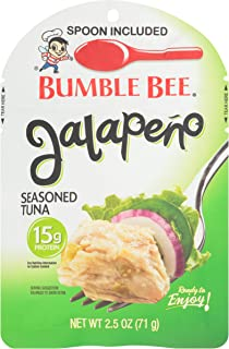 BUMBLE BEE Jalopeno Seasoned Tuna Pouch with Spoon tuna fish, 12 – Count