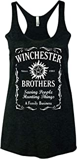 Winchester Brothers TV Series Whiskey Style Women Tank Top - Black New