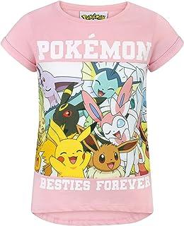 Pokemon Childrens/Girls Besties Forever T-Shirt (UK Size: Years (9-10)) (Light Pink)