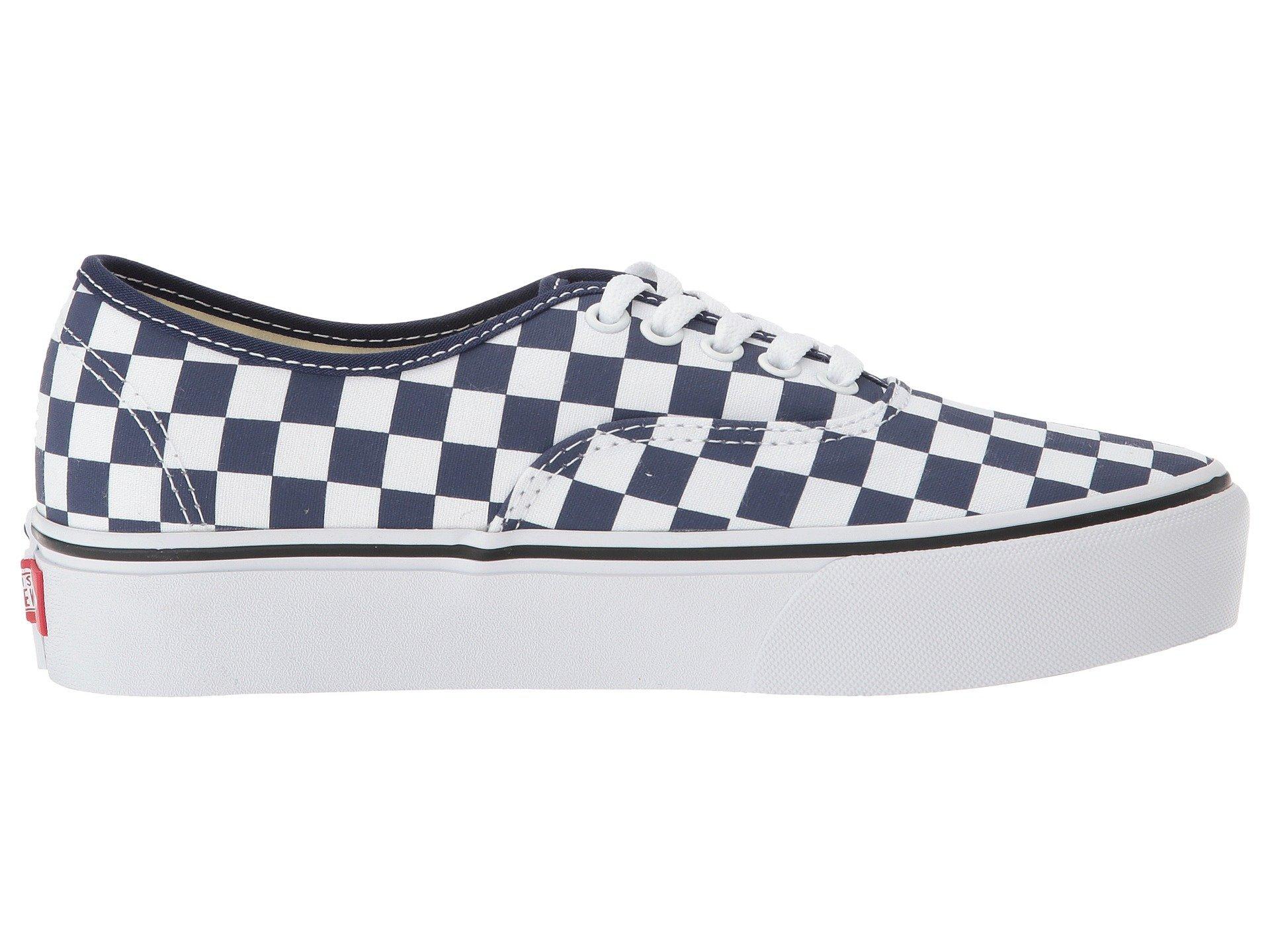 checkerboard Platform Blue 2 Authentic true Medieval White Vans 0 UqWIZxUC