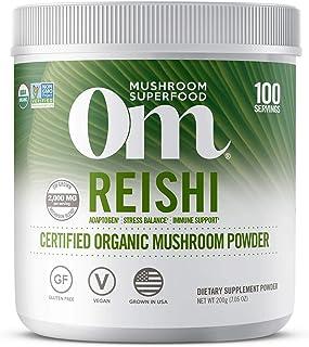 Om Organic Mushroom Superfood Powder, Reishi, 7.05 Ounce (100 Servings), Stress & Immune Support Supplement