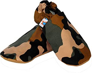 SKIPS Baby Non-Slip Booties Shoes for Baby Girl & Boy - Camo Print