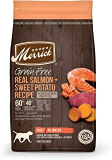 Merrick 38573 Grain Free Dry Dog Food Real Salmon & Sweet Potato Recipe - 22 Lb Bag