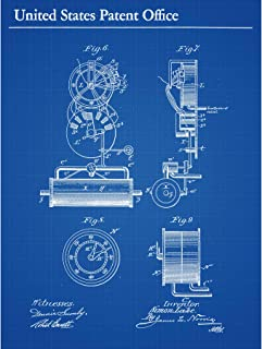 Lake Submarine Vessel Part Design 1897 Patent Plan Large XL Wall Art Canvas Print