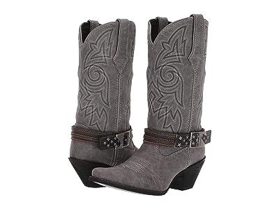 Durango Crush 12 Flag Accessory Strap (Distressed Graphite) Cowboy Boots