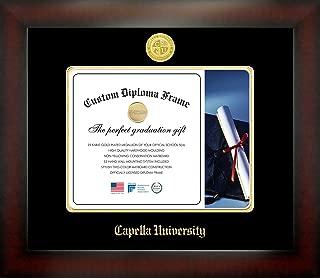 Celebration Frames Capella University 8½ x 11 Mahogany Finish Infinity Diploma Frame