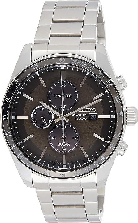Orologio cronografo seiko solare uomo con cinturino in acciaio inox - orologio solare - solar watch SSC719P1