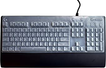 Leze - Ultra Thin Keyboard Cover Protector for Logitech G810 Orion Spectrum RGB Mechanical Gaming Keyboard - Clear