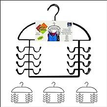 3 Pc Tank Top Closet Organizer Hangers, Black Steel, USA Patented