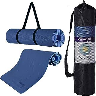 JELS Extra grueso Yoga y Trainingsmatte rutschfeste TPE Pilates Matte con alta resistencia y Tragegurt