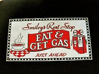Smiley's Rest Stop Porcelain/Metal Sign (Ande Rooney)