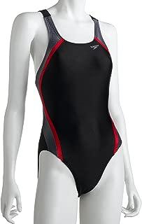 Speedo Women's Race Xtra Life Lycra Velocity Solid Splice Record Breaker Back One-Piece Swimsuit