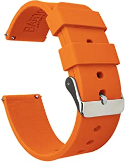 BARTON Watch Bands - Soft Silicone Quick Release Straps - Stainless Steel Buckle - Choose Color & Width - 16mm, 18mm, 20mm...