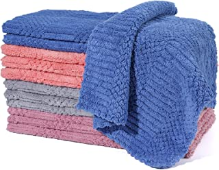Dish Cloths - Dish Towels Ultra Absorbent, 12 Pack Dish Towels for Kitchen, Reusable Cleaning Towels Easy Care, Durable Ki...
