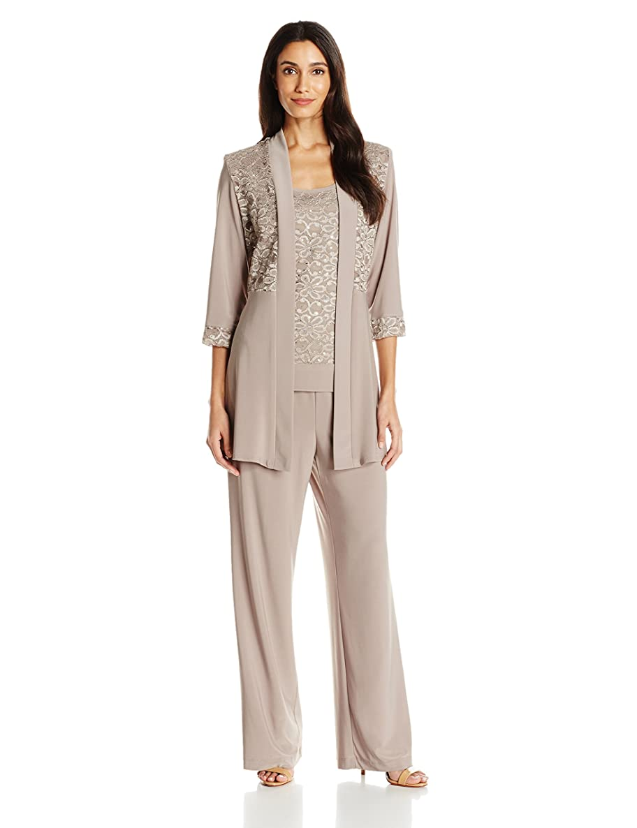 R&M Richards Women's Lace Pant Set