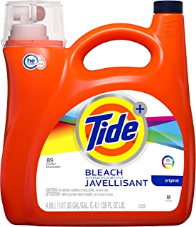 Tide Bleach Alternative Liquid Laundry Detergent, Original, 89 Loads 138 fl oz, 4081 milliliters