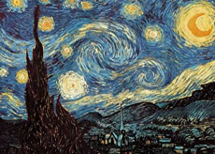 Powza Classic Oil Paintings 1000 Pieces Jigsaw Puzzle - The Starry Night, Artwork Art Large Size Jigsaw Puzzle Toy for Edu...