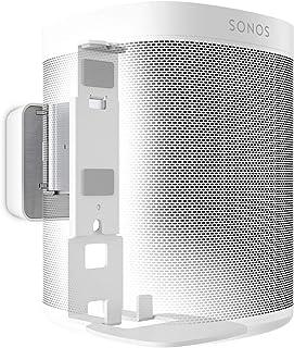 Vogel's SOUND 4201 Speaker Wall Mount Bracket for Sonos One (SL) & Play:1, Tilt 30º and Swivel 70º, White (8152021)