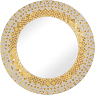 Zorigs, Handcrafted Glass Mosaic Decorative Wall Mirror, 24