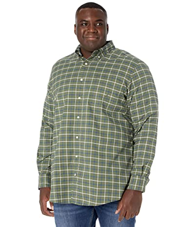 Nautica Big & Tall Big Tall Long Sleeve Woven (Convoy Green) Men