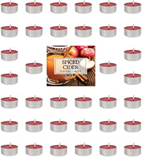 Home Traditions Highly Scented Tealight Candle (Pack of 36) For Home Décor, Wedding, Party, Holiday, Spa & Aromatherapy - Spiced Cider