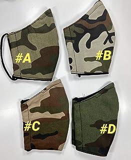 Mascherina Unisex Lavabile 100% cotone camuflage marrone mimetico militare