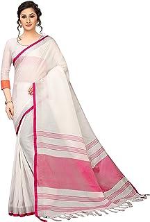 PERFECTBLUE Women`s Linen saree with Blouse Piece(LinenPlain1)