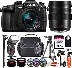 Panasonic Lumix DC-GH5 Mirrorless Micro Four Thirds Digital Camera with Leica DG 12-60mm F2.8 Lens USA Model incl. Transcend 128GB Memory Card, Digital Flash, Tripods, Remote & More