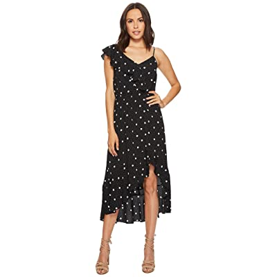1.STATE Spaghetti Strap Ruffled High-Low Dress (Rich Black) Women