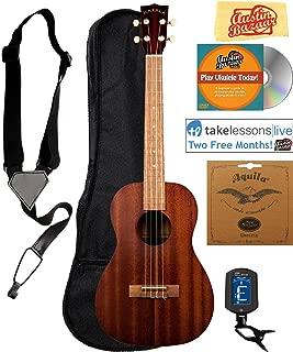 playing baritone ukulele