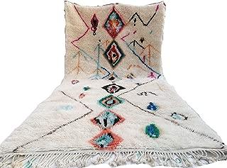 PREMUIM Handmade rug Moroccan Berber Beni Ourain boujaad Azilal rug 4.9 FT X 8.8 FT