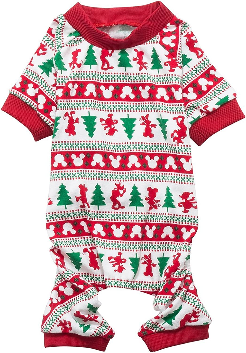 Christmas Tree Cotton Pet Dog Pajamas for XSmall Dogs Cats Kitten,Back Length 9  XSmall