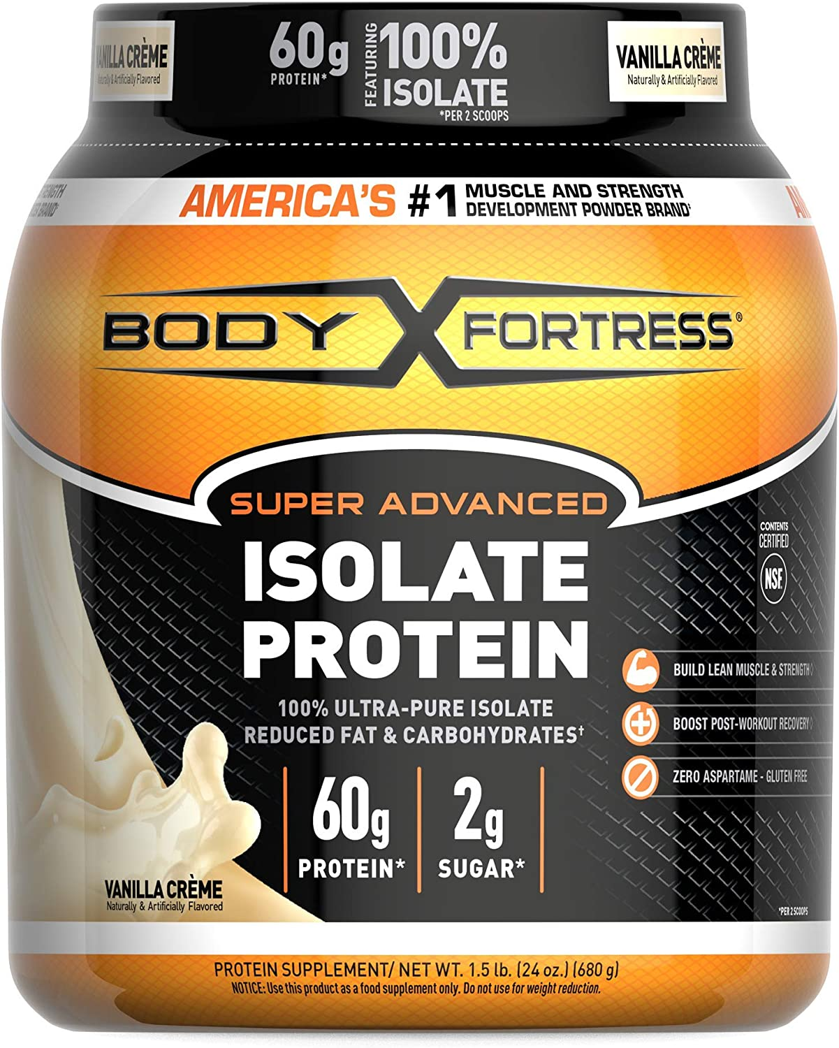 Body Fortress OFFicial mail order Super Credence Advanced Isolate Protein Powder Gluten Free