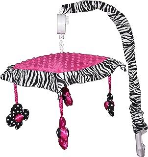 Musical Mobile for Hot Pink Zebra Baby Bedding Set