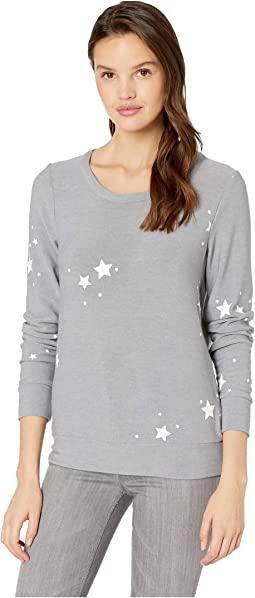 Stars Cozy Knit Long Sleeve Pullover