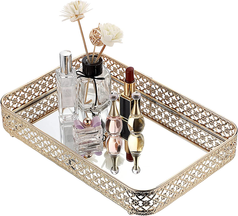 ELLDOO Ranking TOP20 Perfume Tray shop Mirror Makeup Jewe Hollow-Carved Vanity