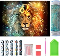 DIY Lion King Diamond Art by Numbers for Adults, Full Drill 5D Diamond Painting Kits for Kids, Crystal Rhinestone Arts Cra...