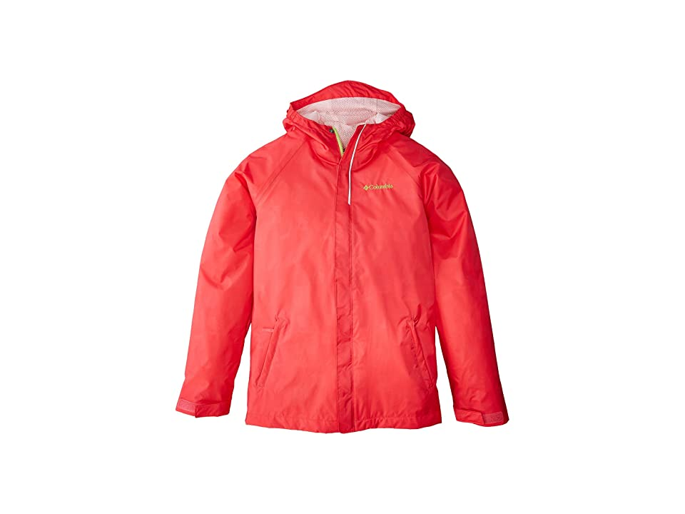 Columbia Kids Fast Curious Rain Jacket (Little Kids/Big Kids) (Punch Pink Campin Invizzaprint/Cherry Blossom) Girl