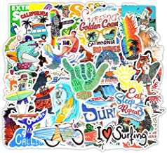 Cool Old School Surf Board Endless Summer 1970 Car vinyl Sticker decal 100x90mm