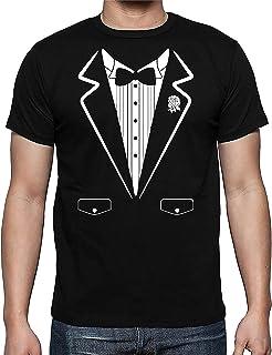 ec84172b3cc4a Tuxedo Funny Wedding Party Bow Tie Costume Premium Men s Shirt