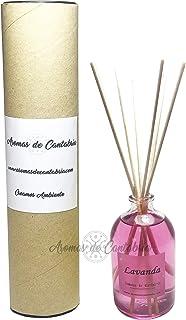 Mikado Lavanda 100ml,Aromas de Cantabria® fabricado en España, 100% natural,artesanal, hecho a mano, original, 16 semanas ...